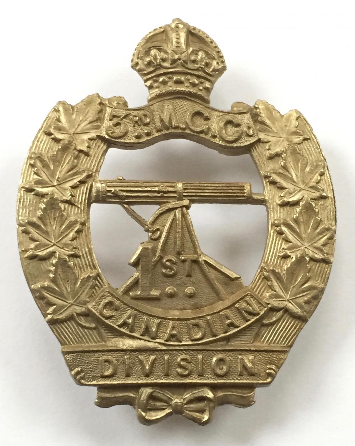 3rd MG Co 1st Canadian Div CEF cap badge