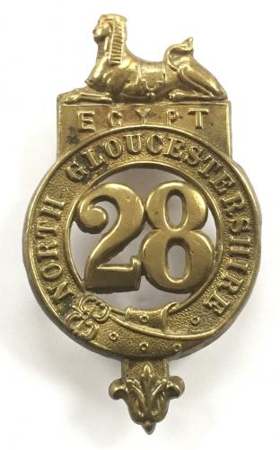 28th Foot pte 1881 glengarry badge.