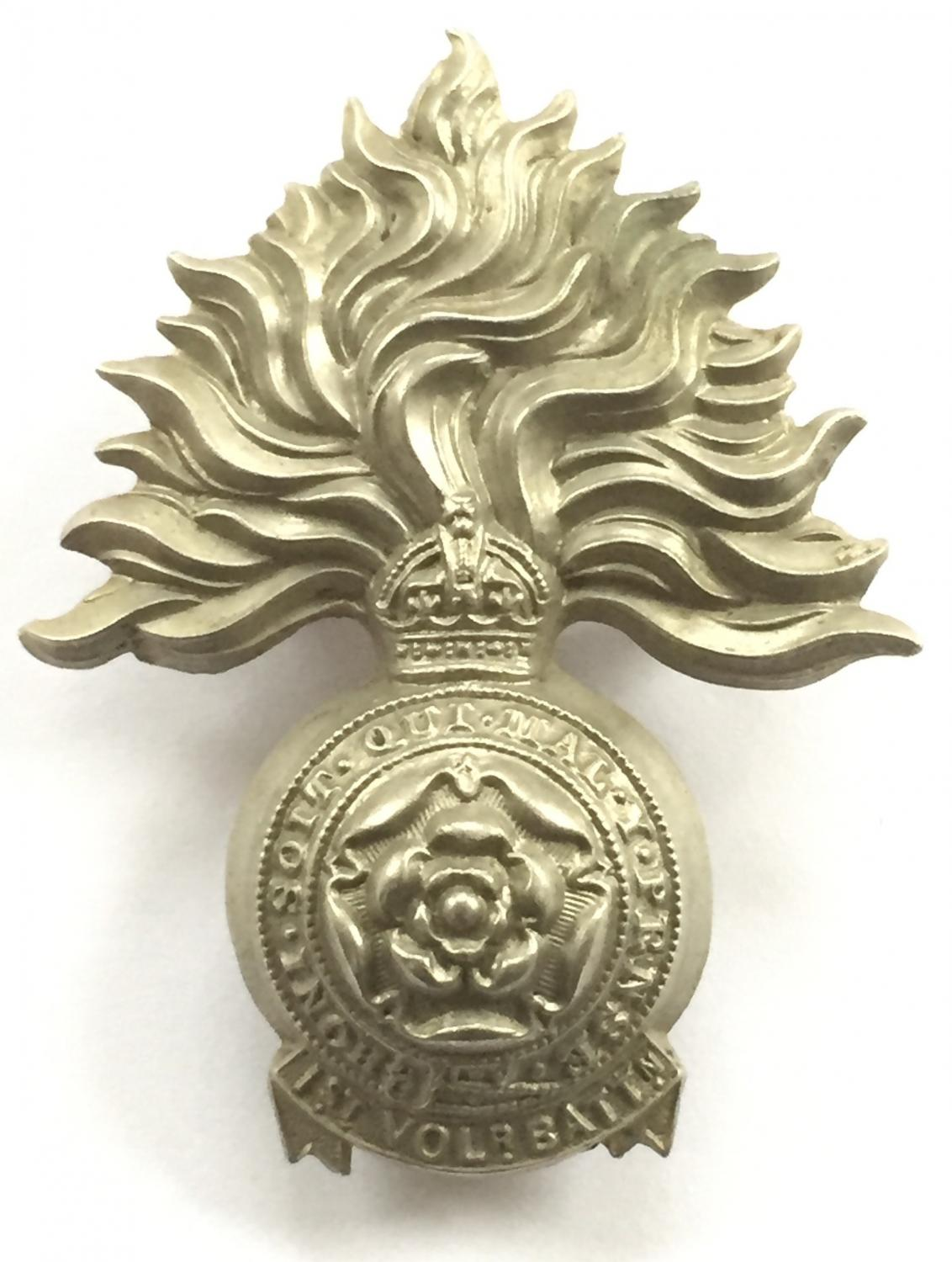 1st VB Royal Fusiliers Edwardian cap badge