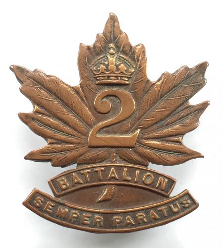 2nd (Eastern Ontario) Bn CEF cap badge