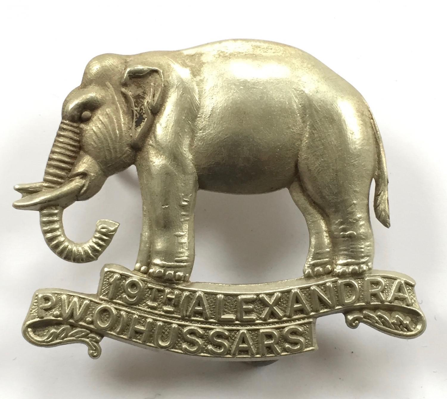 19th Hussars double scroll elephant