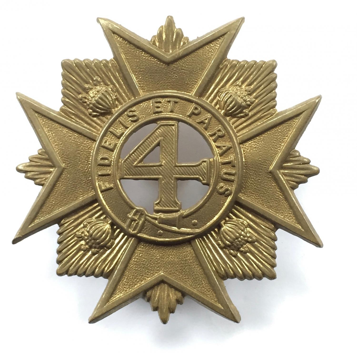 4th Regt NSW Vol Inf 1890's slouch hat badge