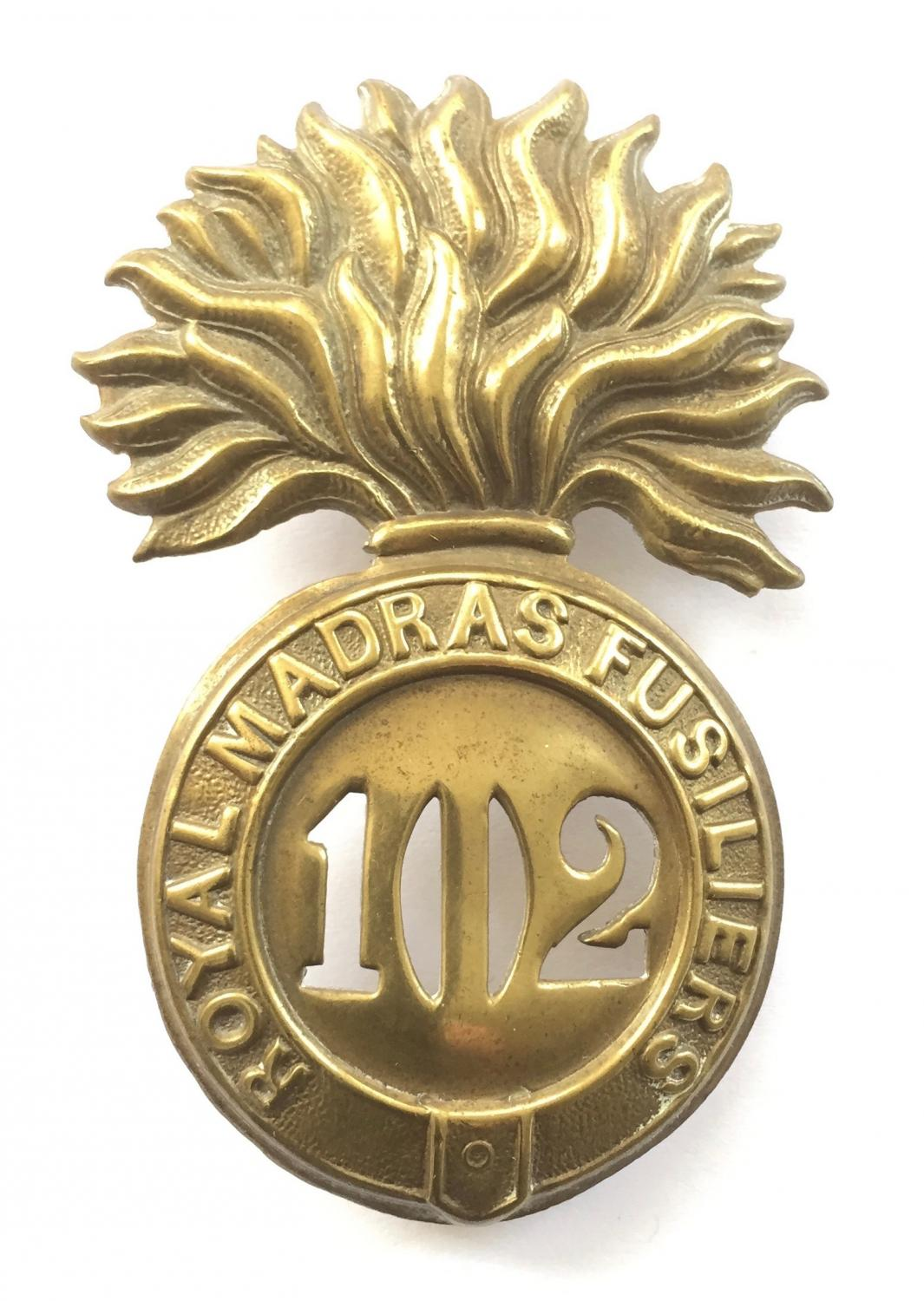 102nd R. Madras Fusiliers glengarry badge