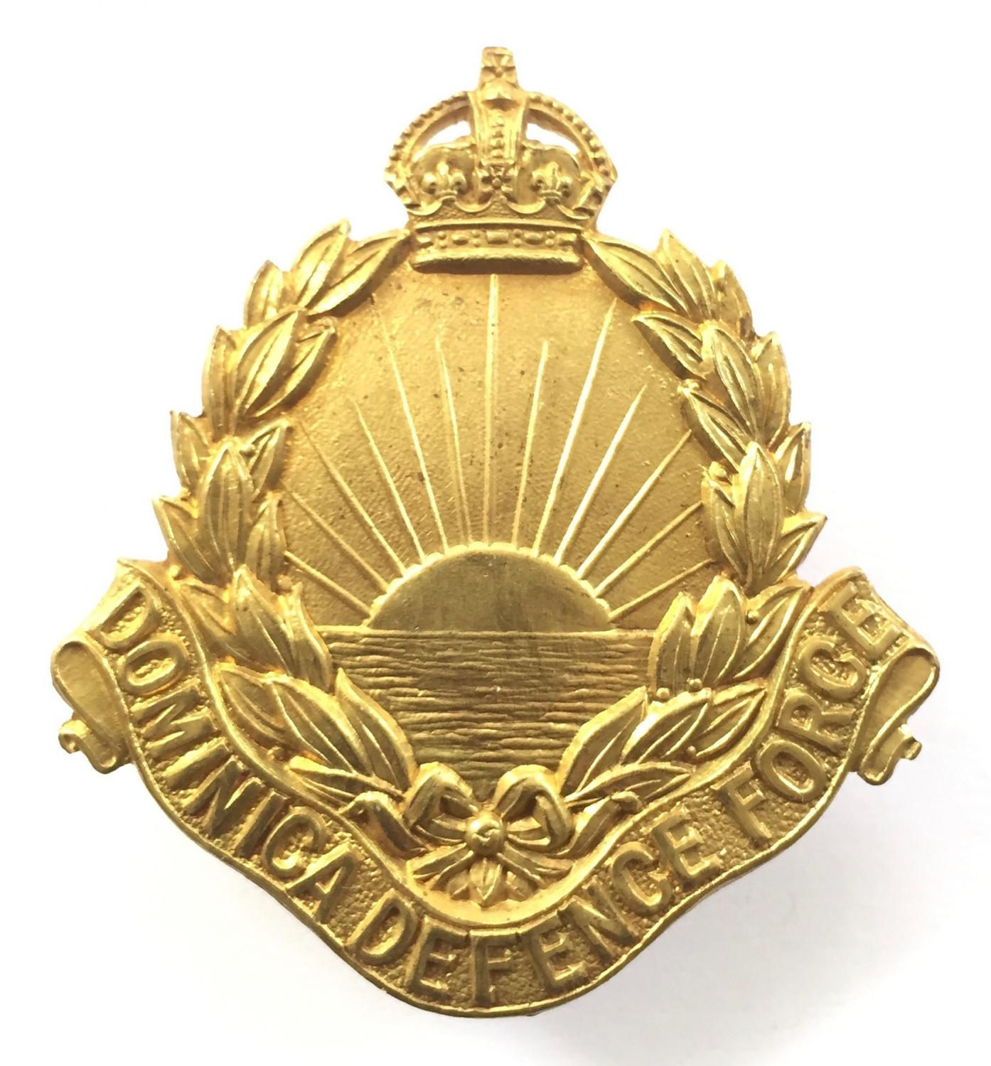 Dominica Defence Force cap badge by Firmin