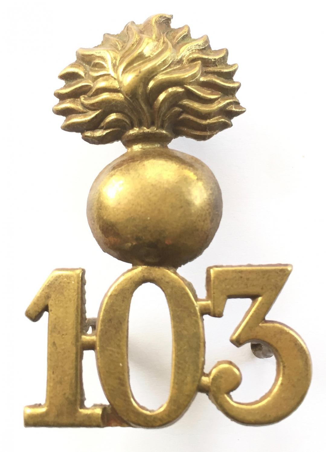 103rd Royal Bombay Fusiliers glengarry badge