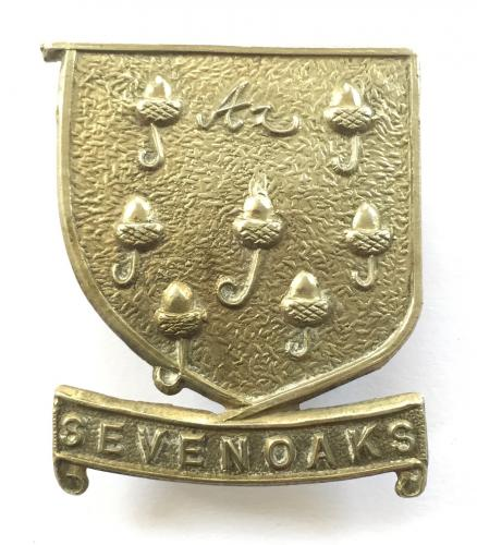 Sevenoaks School OTC Kent cap badge.