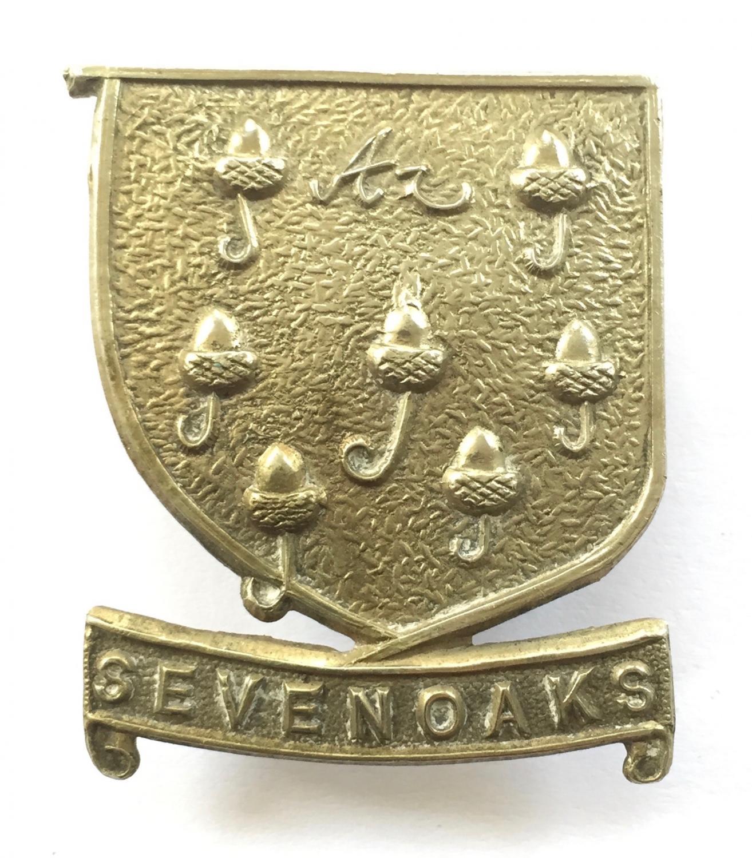 Sevenoaks School OTC Kent cap badge.