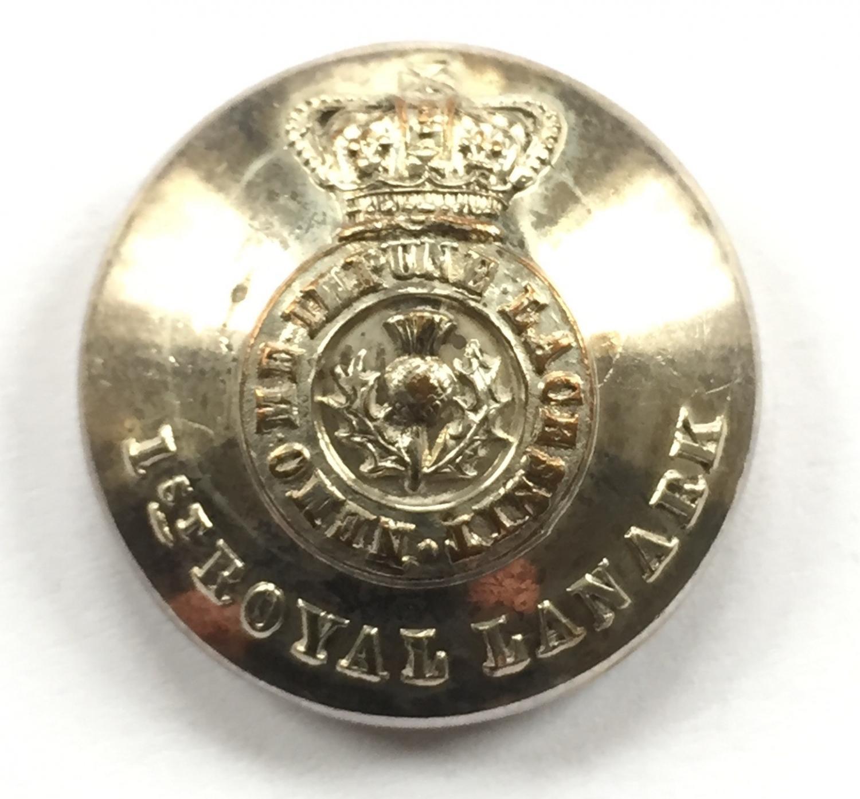 1st Royal Lanark Militia coatee button