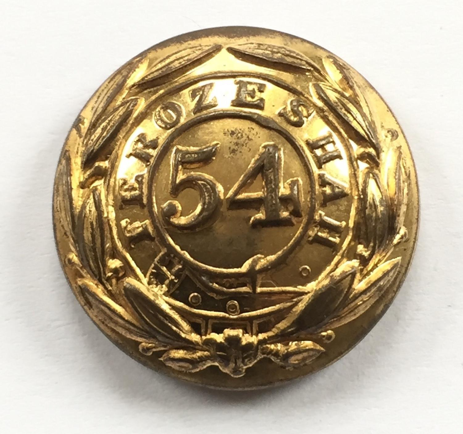 54th Bengal Native Infantry coatee button