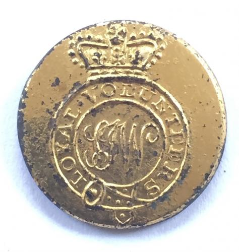 Shalfleet Loyal Volunteers, I of Wight button