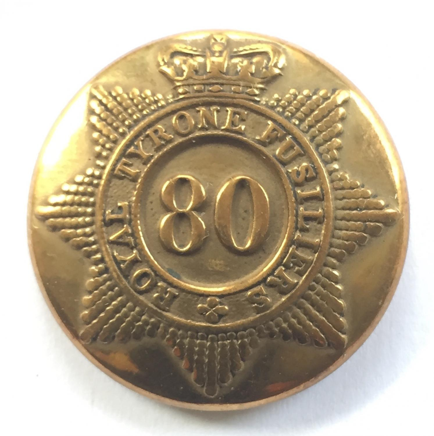 Royal Tyrone Fusiliers Victorian button