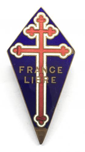 WW2 Free French Navy badge