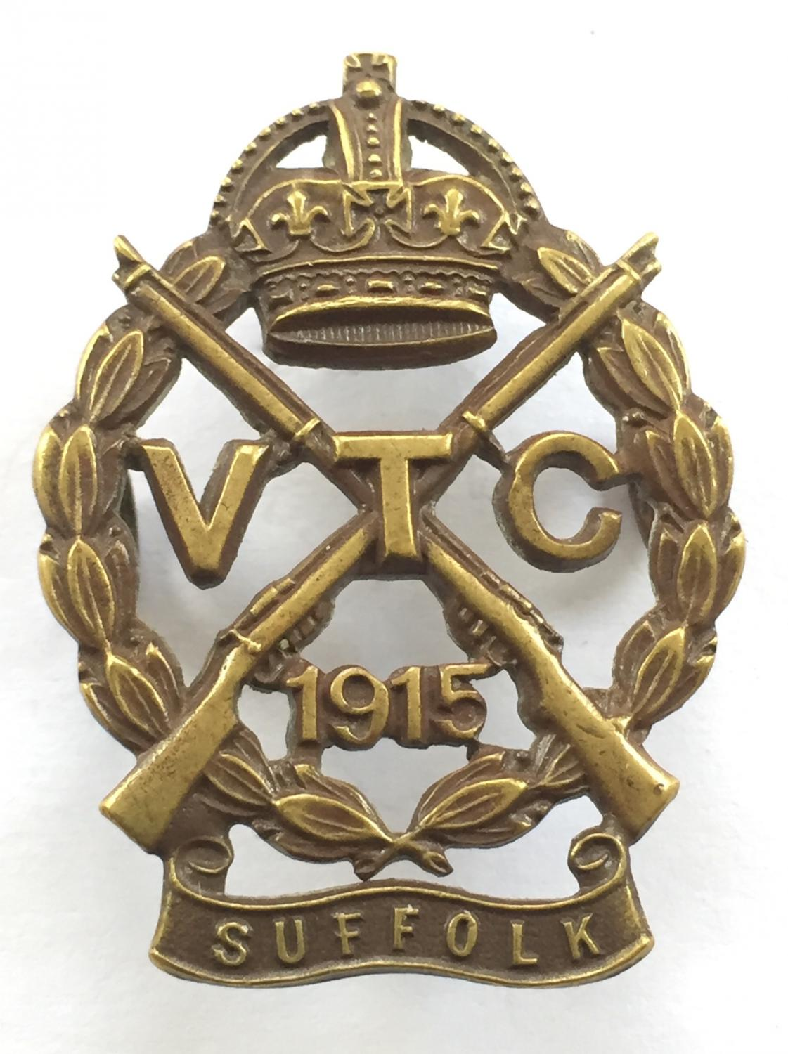 Suffolk VTC WW1 cap badge by Gaunt