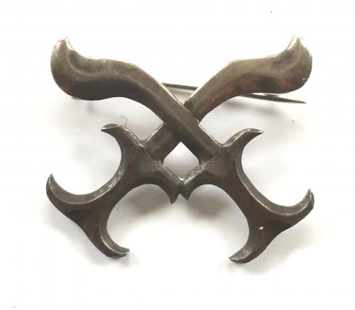 Sudan Border Guard silver cap badge
