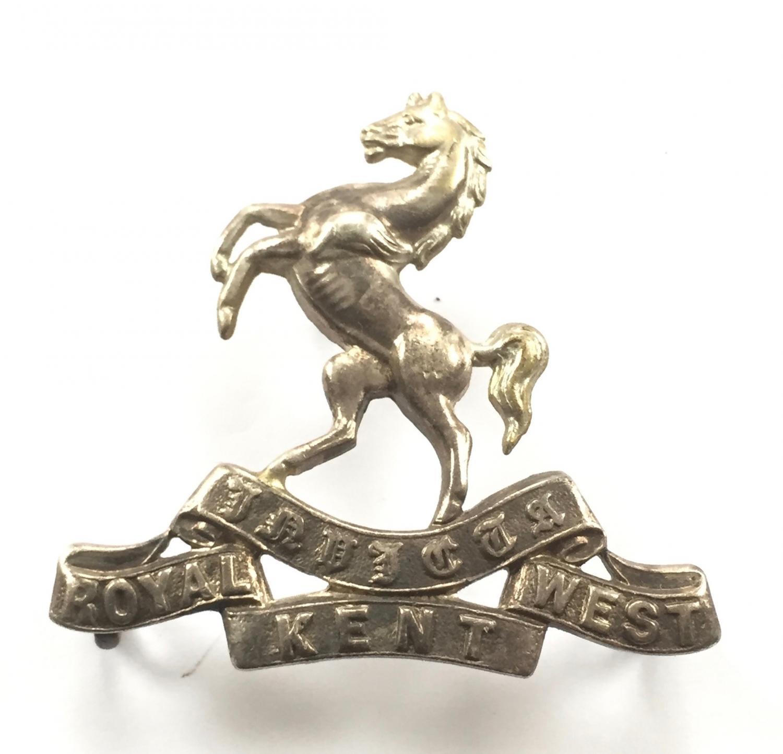 Royal West Kent hallmarked silver badge