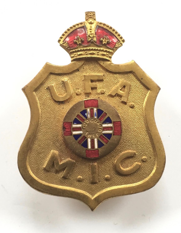 United Farmers of Alberta WWI Canadian cap badge
