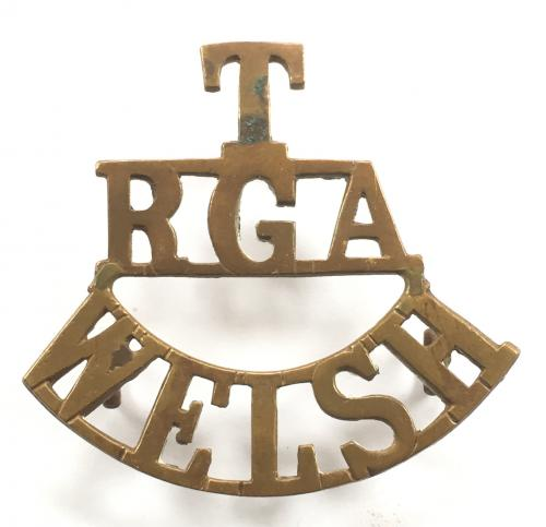 T / RGA / WELSH shoulder title