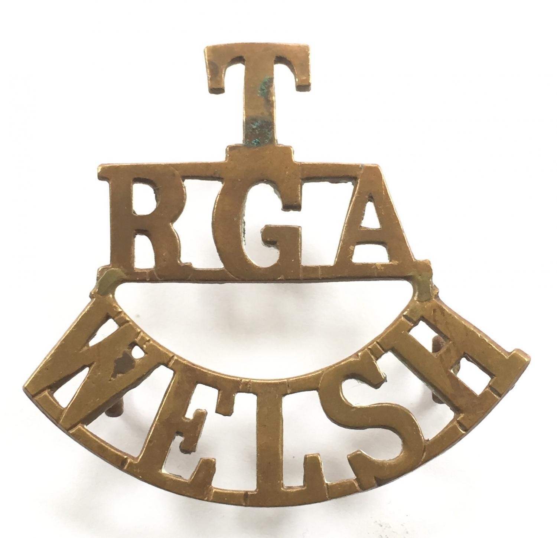 T / RGA / WELSH shoulder title