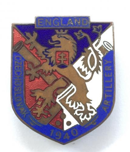 WW2 Free Czechoslovakian Artillery badge