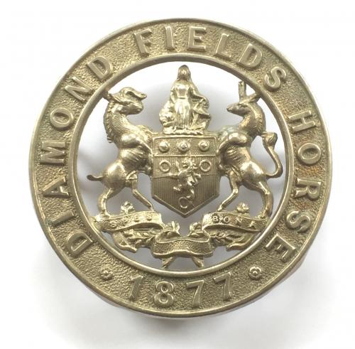 Diamond Fields Horse cap badge c 1902-06.