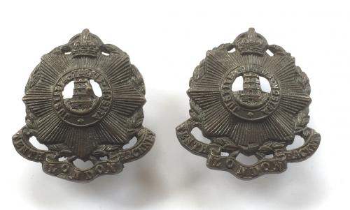 10th London Regiment (Hackney) collars
