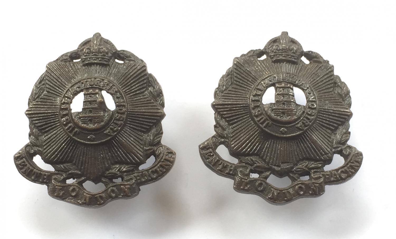 10th London Regiment (Hackney) collars