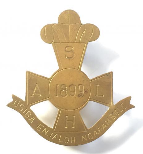 South African Light Horse Boer War slouch hat badge