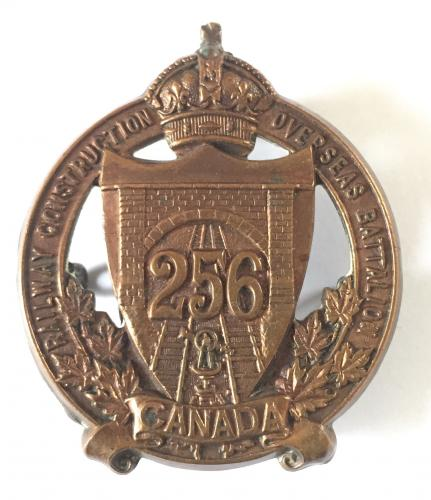 256th Railway Construction Bn CEF badge