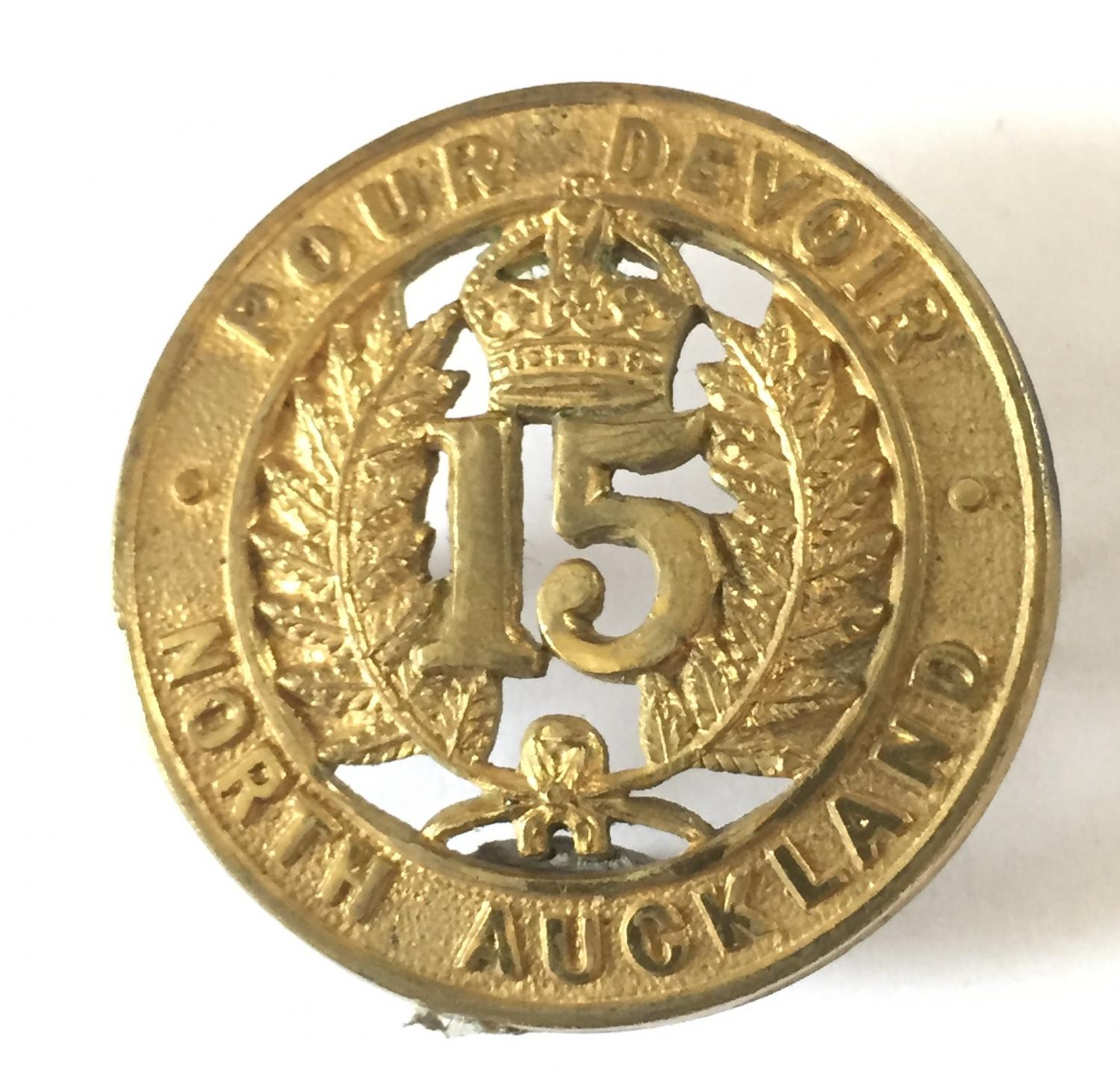 NZ 15th North Auckland cap badge