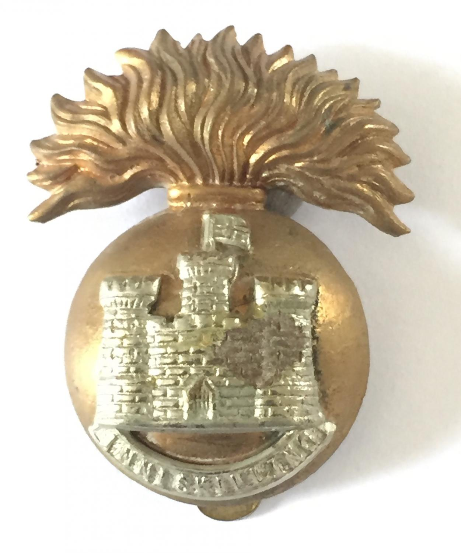 R Inniskilling Fusiliers post 1934 cap badge.