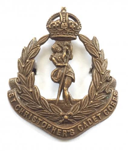 St. Kitts St. Christopher Cadets cap badge
