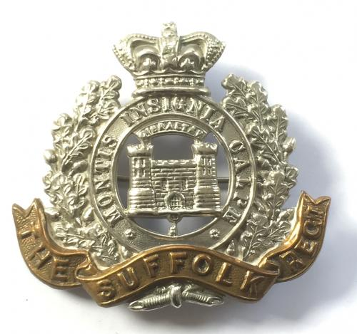 Suffolk Regiment Victorian cap badge
