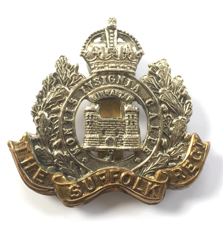 Suffolk Regiment Edwardian cap badge