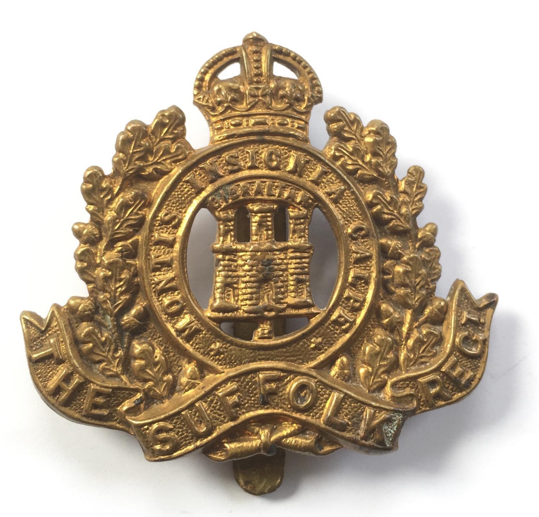 Suffolk Regiment WW1 1916 brass economy badge