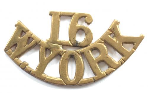 "16 / W.YORK  ""Bradford Pals"" brass should"