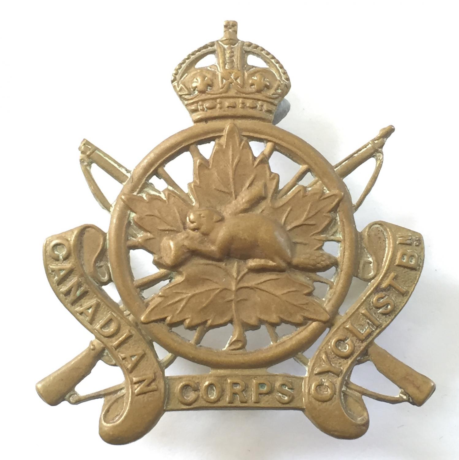 Canadian Army Cyclist Corps cap badge