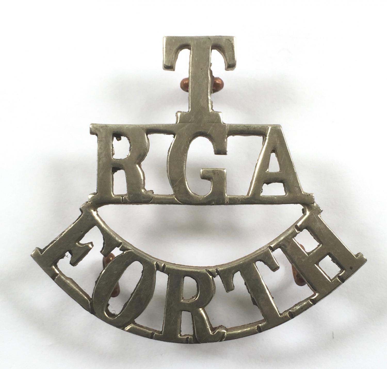 T / RGA / FORTH white metal shoulder title