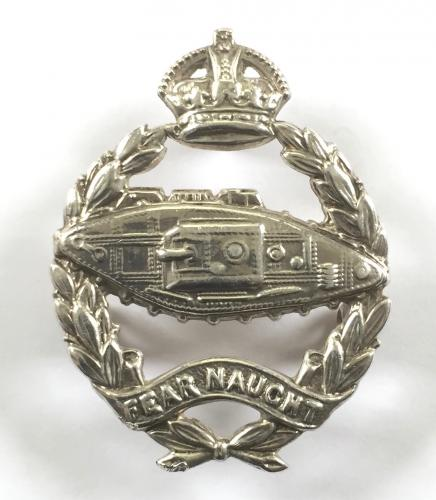 R.Tank Corps HM silver beret badge