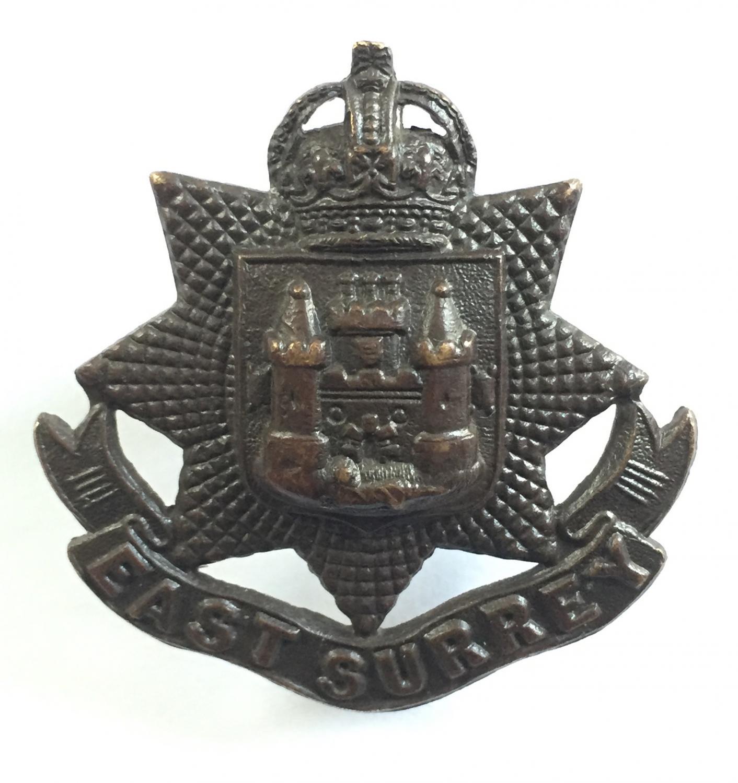 East Surrey OSD bronze cap badge