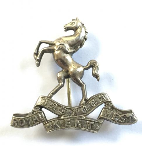 R West Kents Boer War silver pagri badge