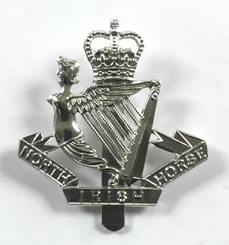 North Irish Horse silver anodised cap badge.