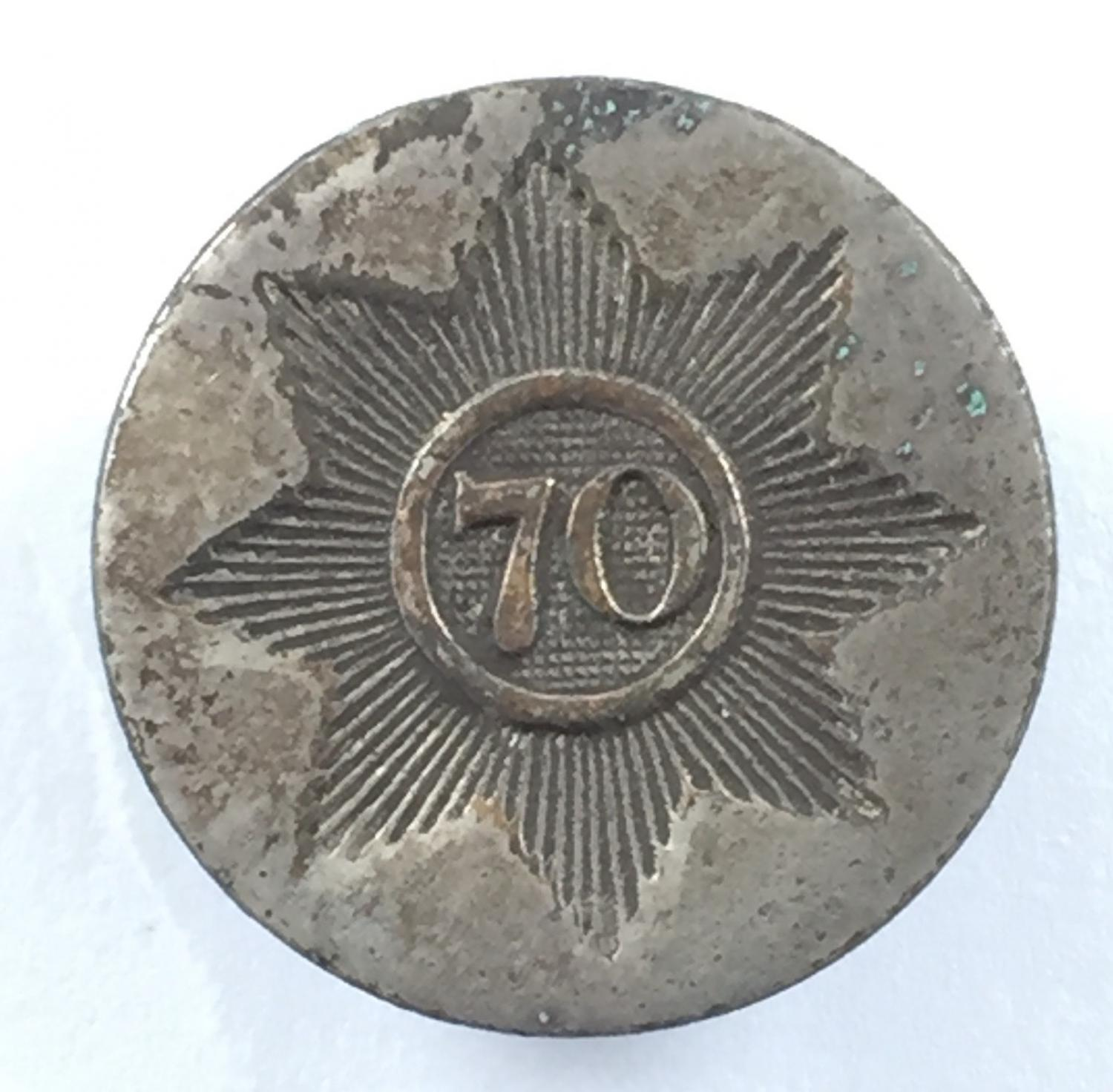 70th Foot George III coatee button