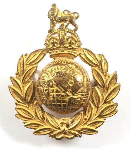 Royal Marines Sergeant's gilt cap badge