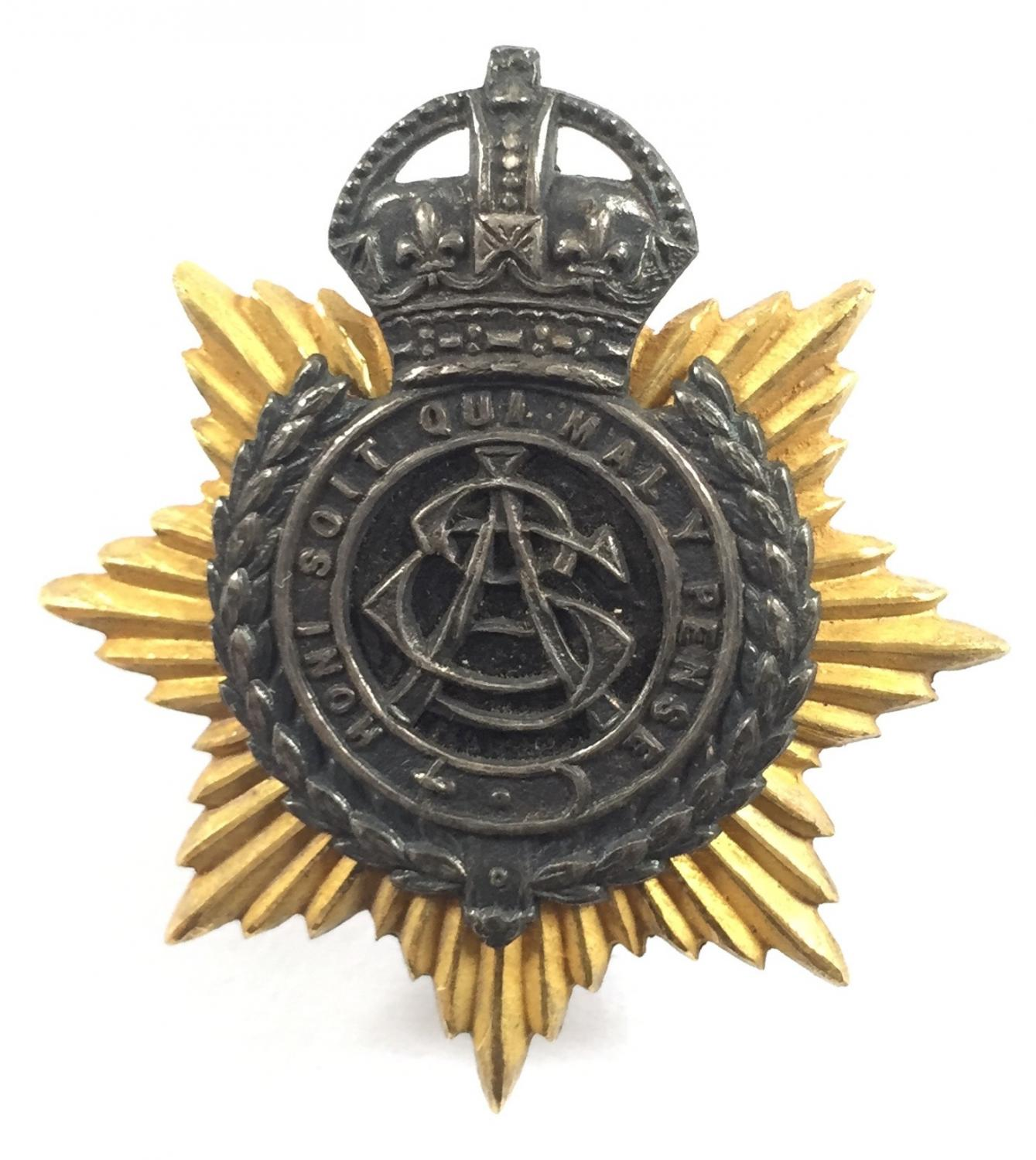 Army Service Corps Officer cap badge