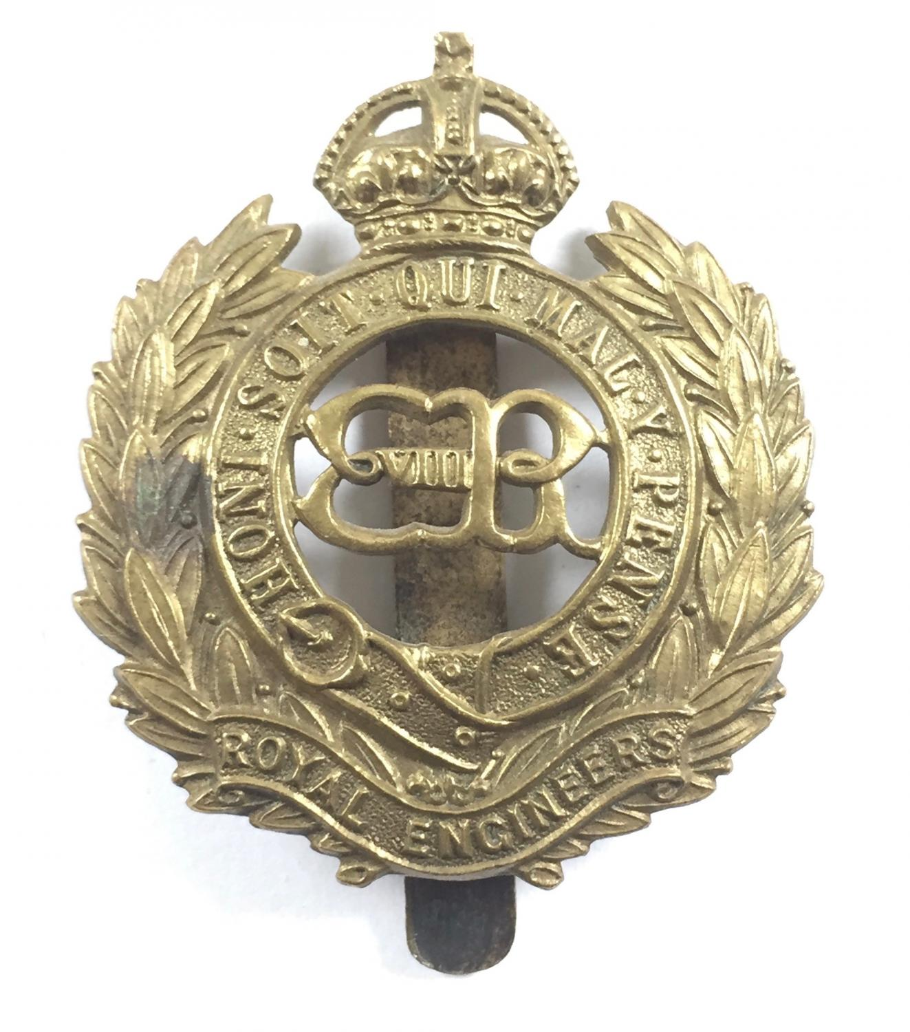 Royal Engineers rare Edward VIII OR's brass badge