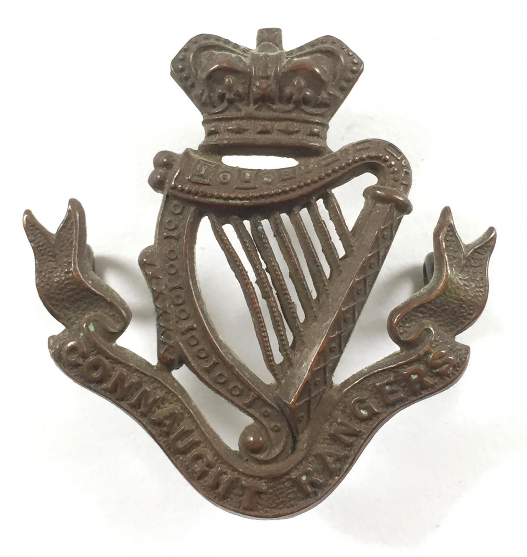 Connaught Rangers Victorian cap badge