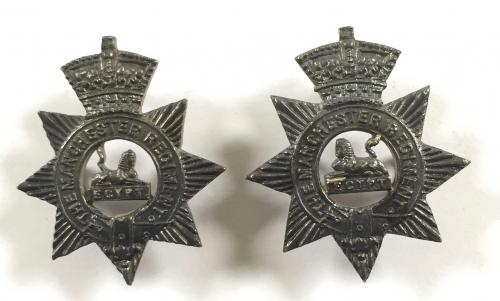 Manchester Regt pair of Officer collars