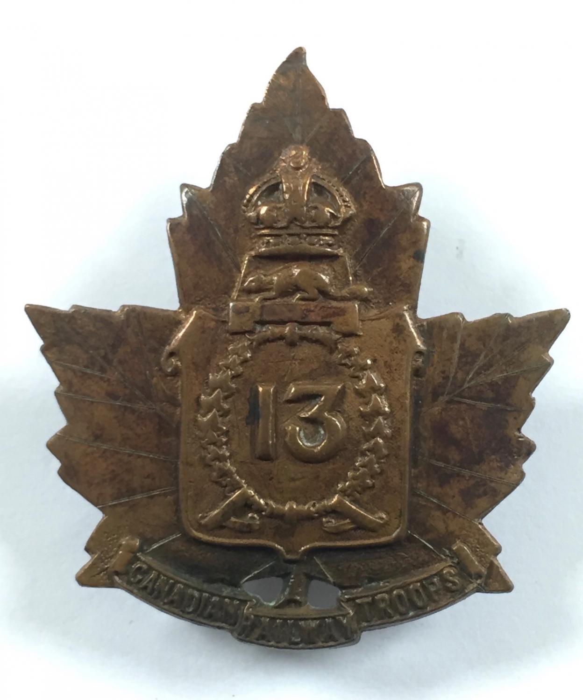 13th Railway Troops WW1 CEF cap badge