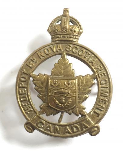 1st Depot Bn Nova Scotia Regt CEF cap badge