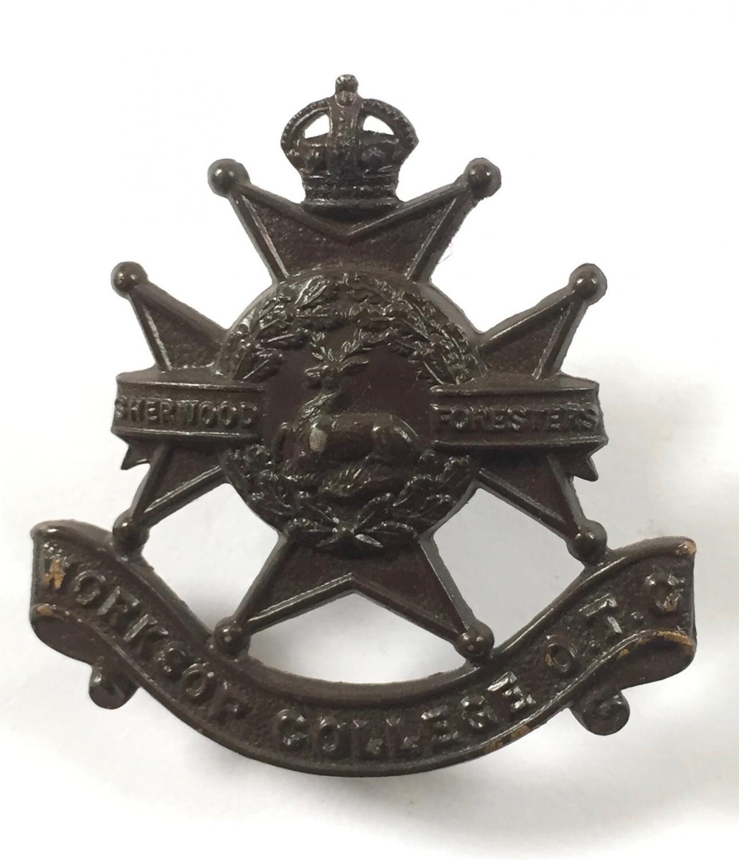 Worksop College OTC cap badge